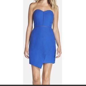 Adeline Rae Royal Blue Strapless Dress